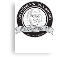 Certified Social Assassin Canvas Print