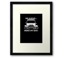 Moke My Day! Framed Print