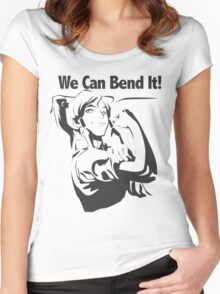We Can Bend It Women's Fitted Scoop T-Shirt
