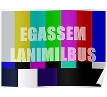 Subliminal Message Television Screen Poster