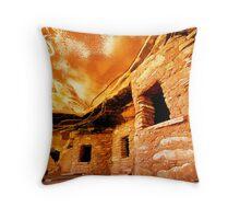 Ancient Fallen Roof Granary Throw Pillow