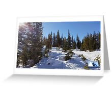 Snowy Scene 1 Greeting Card