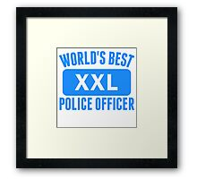 World's Best Police Officer Framed Print