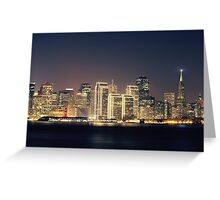 San Francisco Holiday Skyline IV Greeting Card