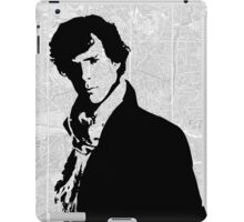 Sherlock With London Map iPad Case/Skin