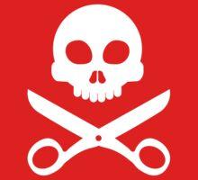 Skull and Scissors One Piece - Short Sleeve