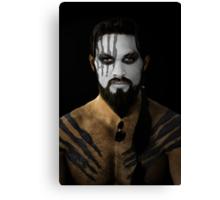 Khal Drogo Dothraki King House War Paint Canvas Print