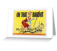 Brigitte Bardot - La Parisienne - 1957 Greeting Card