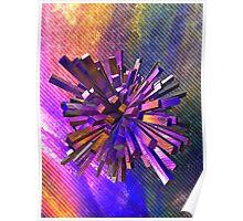 Coloured Geometric Shape Poster