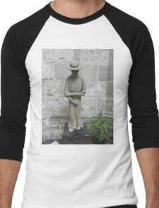 Statue of Father Damien, Ghent, Belgium Men's Baseball ¾ T-Shirt