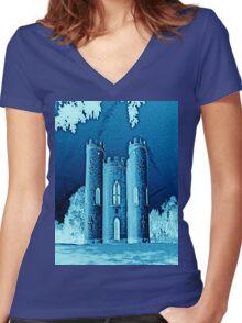 Blaise castle Jade Women's Fitted V-Neck T-Shirt