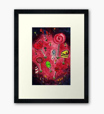 Candy wonderland Framed Print