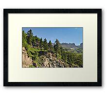 Logan Pass, Glacier National Park, Montana Framed Print