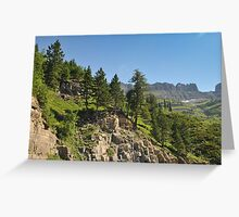 Logan Pass, Glacier National Park, Montana Greeting Card
