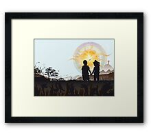 The moment your heart burns - By: Ram Castillo Framed Print