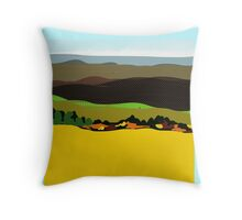 YELLOW FIELDS, art prints on gifts and decor Throw Pillow