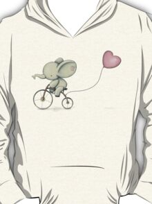 Cute Elephant riding his Bike T-Shirt