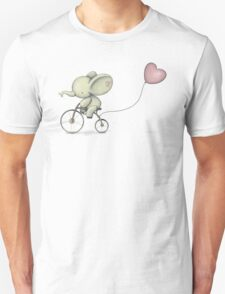 Cute Elephant riding his Bike Unisex T-Shirt