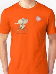 Cute Elephant riding his Bike Unisex T-Shirt