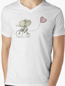 Cute Elephant riding his Bike Mens V-Neck T-Shirt