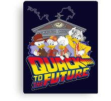 Quack To The Future Canvas Print