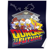 Quack To The Future Poster