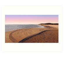 Shark Bay Beach At Dawn  Art Print