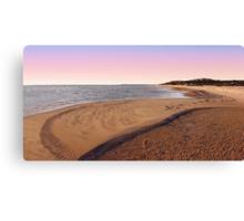 Shark Bay Beach At Dawn  Canvas Print