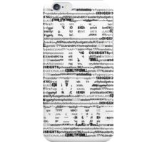 Not in my Name BLACK iPhone Case/Skin