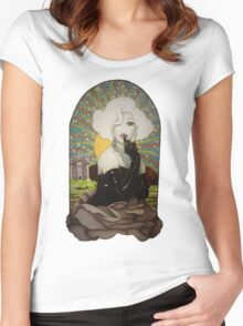 Clear Background Jinkx Monsoon Design Women's Fitted Scoop T-Shirt
