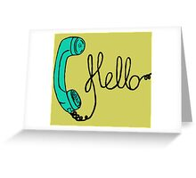 Groovy Hello Phone. Greeting Card