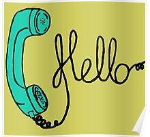 Groovy Hello Phone. Poster