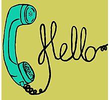 Groovy Hello Phone. Photographic Print