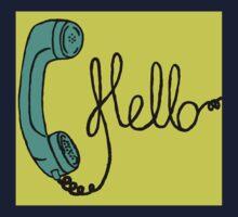 Groovy Hello Phone. Kids Tee