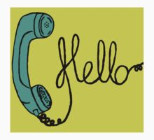 Groovy Hello Phone. Kids Tee