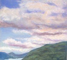 Looking Up Columbia River Gorge by Carolyn Bishop