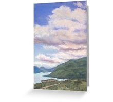Looking Up Columbia River Gorge Greeting Card