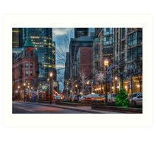 The St. Lawrence Market Area of Toronto at Holiday Time Art Print
