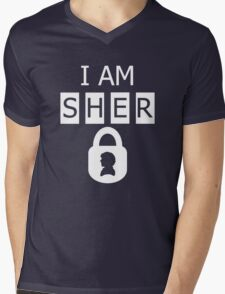 I AM SHER locked 2 Mens V-Neck T-Shirt