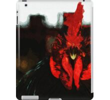 Top Rooster Abstract Impressionism iPad Case/Skin