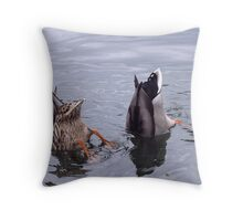 Synchronised Swimming  - or Bottoms Up! Throw Pillow