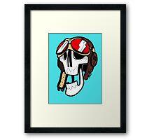 Aviator Skull Framed Print