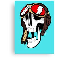 Aviator Skull Canvas Print