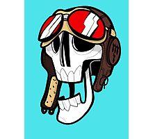 Aviator Skull Photographic Print