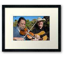 Geoff Bridgland - Paul Thompson (36 years & still playing together) Framed Print