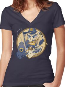 Sea Dog Women's Fitted V-Neck T-Shirt
