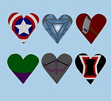 Avenger Hearts  by GeekyToGo