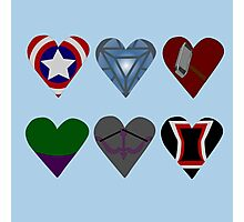 Avenger Hearts  Photographic Print
