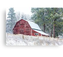 Snow Storm in the Palouse Canvas Print