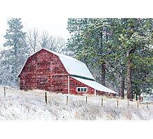 Snow Storm in the Palouse Photographic Print